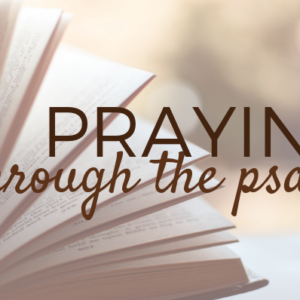 Praying Through The Psalms: Psalm 51